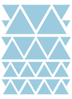 POWDER BLUE TRIANGLE WALL DECALS