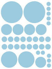Load image into Gallery viewer, POWDER BLUE POLKA DOT WALL DECALS
