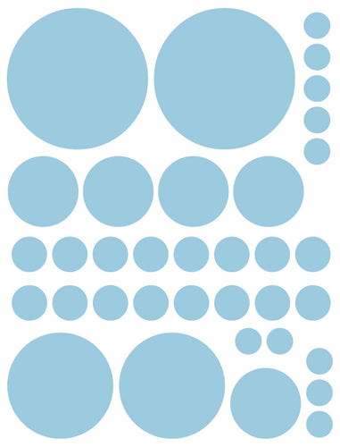 POWDER BLUE POLKA DOT WALL DECALS