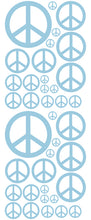 Load image into Gallery viewer, POWDER BLUE PEACE SIGN DECAL