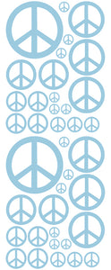 POWDER BLUE PEACE SIGN DECAL