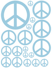 Load image into Gallery viewer, POWDER BLUE PEACE SIGN WALL DECAL