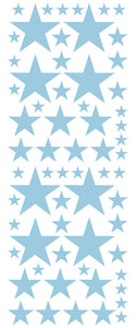 POWDER BLUE STAR DECALS