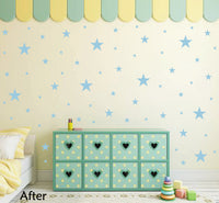 POWDER BLUE STAR STICKERS