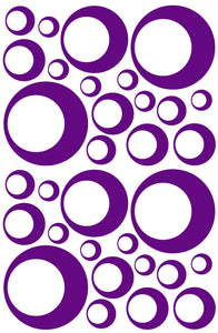 PURPLE BUBBLE STICKERS