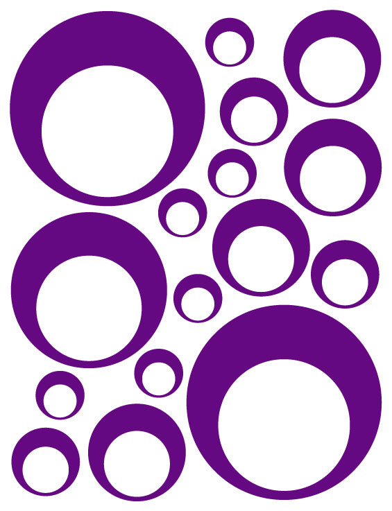 PURPLE BUBBLE DECALS