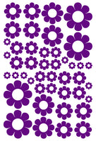 PURPLE DAISY WALL STICKERS