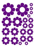 PURPLE DAISY WALL DECALS