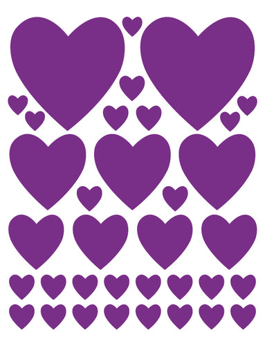 PURPLE HEART WALL DECALS