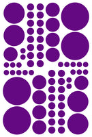 PURPLE POLKA DOT DECALS
