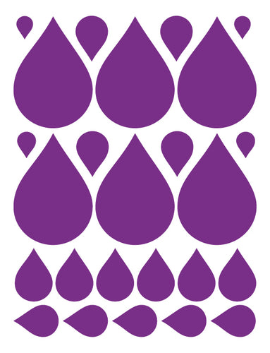 PURPLE RAINDROP WALL DECALS