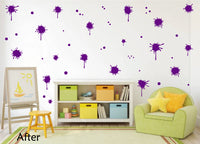 PURPLE PAINT SPLATTER WALL STICKER