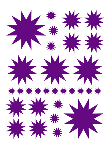PURPLE STARBURST WALL DECALS