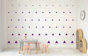PURPLE TRIANGLE DECALS