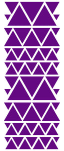 PURPLE TRIANGLE STICKERS