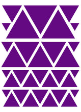 Load image into Gallery viewer, PURPLE TRIANGLE WALL DECALS