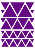 PURPLE TRIANGLE WALL DECALS