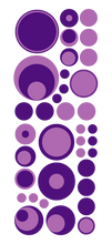 Load image into Gallery viewer, PURPLE POLKA DOT WALL DECALS