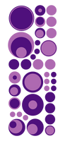 PURPLE POLKA DOT WALL DECALS