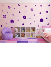 Load image into Gallery viewer, PURPLE POLKA DOT WALL STICKERS