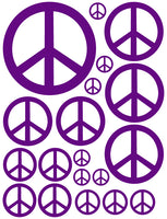 PURPLE PEACE SIGN WALL DECAL