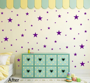 PURPLE STAR STICKERS
