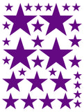 PURPLE STAR WALL DECALS