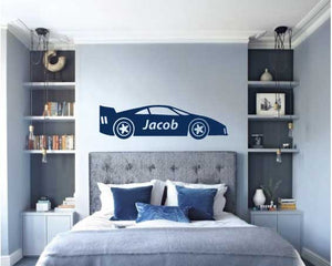 RACE CAR WALL STICKER