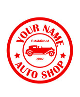 CUSTOM AUTO SHOP WALL DECAL IN RED