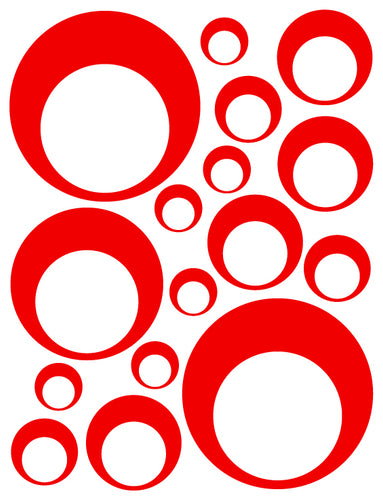 RED BUBBLE DECALS