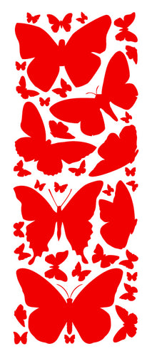 RED BUTTERFLY WALL DECALS