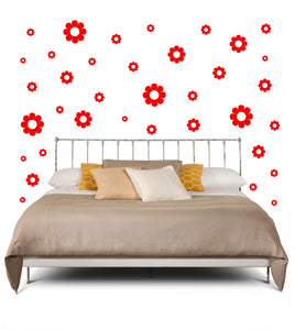 RED DAISY WALL DECOR