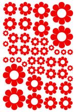 Load image into Gallery viewer, RED DAISY WALL STICKERS