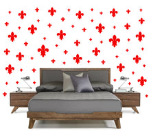 Load image into Gallery viewer, RED FLEUR DE LIS WALL DECOR