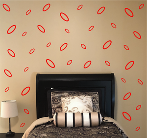 RED OVAL WALL DECOR