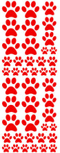 Load image into Gallery viewer, RED PAW PRINT DECALS