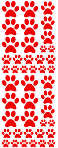RED PAW PRINT DECALS