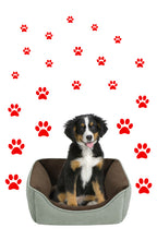 Load image into Gallery viewer, RED PAW PRINT STICKERS