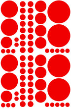 Load image into Gallery viewer, RED POLKA DOT WALL DECALS