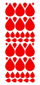 RED RAINDROP WALL STICKERS