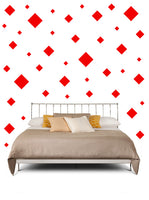 SQUARE WALL STICKERS IN RED