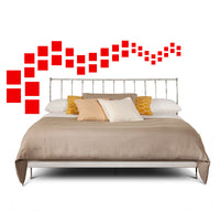 SQUARE WALL DECALS IN RED