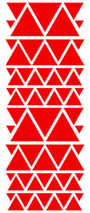 RED TRIANGLE STICKERS