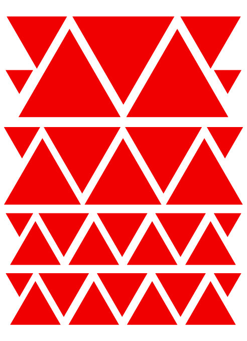 RED TRIANGLE WALL DECALS