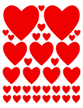 Load image into Gallery viewer, RED HEART WALL DECALS