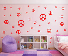 Load image into Gallery viewer, RED PEACE SIGN STICKER