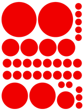 Load image into Gallery viewer, RED POLKA DOT DECALS