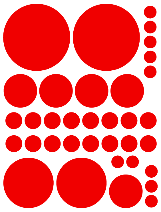 RED POLKA DOT DECALS