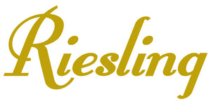 RIESLING WALL DECAL GOLD