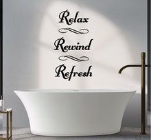Load image into Gallery viewer, RELAX REWIND REFRESH WALL STICKER
